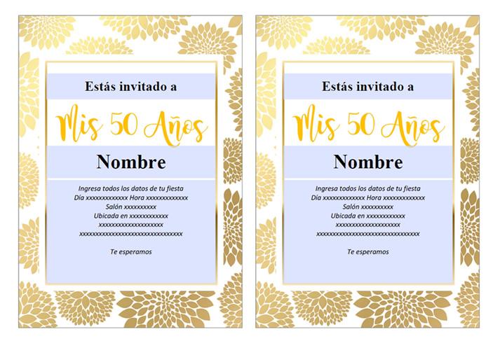 Como hacer una Invitación para 50 años