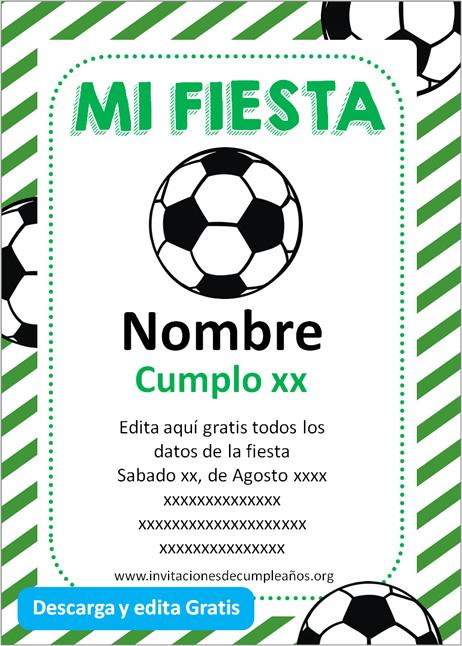 Invitación de Fútbol cumpleaños