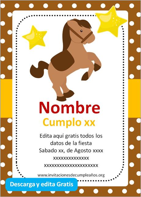 Invitación de caballo Vaquero