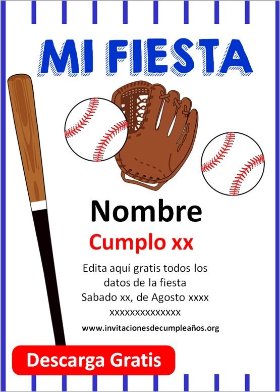 invitaciones de beisbol