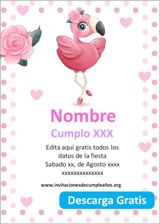 Invitaciones de cumpleaños de flamenco