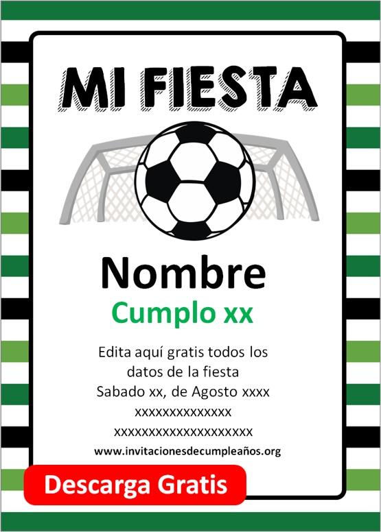 invitaciones de cumpleaños de futbol
