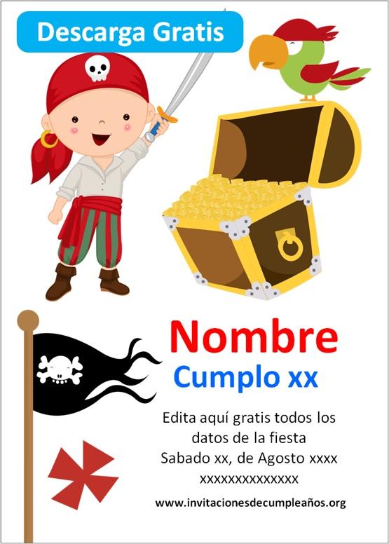 Invitaciones de piratas